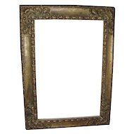 Large Vintage Carved and Gilt Wood Rococo Picture Frame for Oil Painting or Mirror in the Spanish Taste