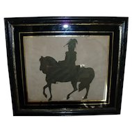 Early 19th century Hollow Cut Silhouette of President Andrew Jackson on Horseback