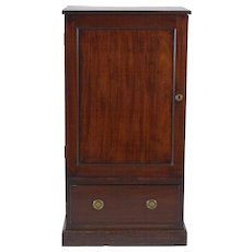 Antique 18th century English George III Mahogany Library Pedestal Side Cabinet 1790