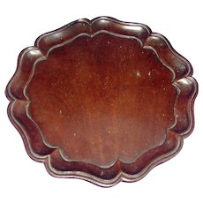 Antique 18th century George III Carved Mahogany Chippendale Pie Crust Tray Waiter or Coaster 1790