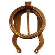 Antique 19th century Aesthetic Movement Wrought Iron Door Knocker