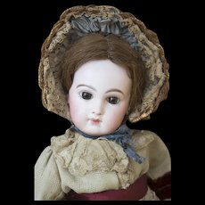 "19"" (48cm) Stunning Early Antique French Incised Depose Bebe doll, Emile Jumeau size 8, original costume!"