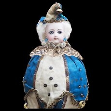 "13"" (33cm) Antique French All Original  as Musical Party Marotte Toy Doll  by Gaultier with wonderful original costume"
