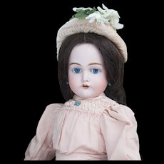 "25"" (64cm) Antique German Bisque Child Doll, 192, by Kammer and Reinhardt in Original Dress, excellent condition"