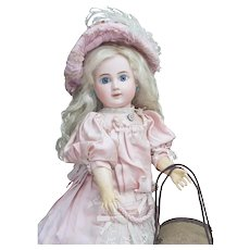 "17"" (43 cm) Outstanding Rare Antique French Bisque bebe Doll ""Au Defi""  89  by Steiner Successors, c.1890"