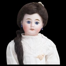 "19 1/2"" (49cm) Antique French All Original Bisque Head Doll Fleischmann & Blodel"