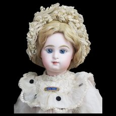 "18"" (46cm) Rare Antique French Bisque ""Paris Bebe"" Doll size 7 by by  Emile Jumeau with Captivating Expression, c.1890"