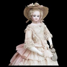 19in (48cm) Antique French Fashion Poupee Doll by Pierre-Francois Jumeau in original costume, excellent condition, c.1878