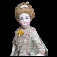 "22"" (56cm) Antique French Fashion Bisque  doll by Gaultier, size 6, excellent condition, c.1875"