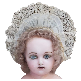"""Very Beautiful Antique French Original Bonnet for Jumeau Bru Steiner Eden bebe or german doll about 19-20"""" tall"""