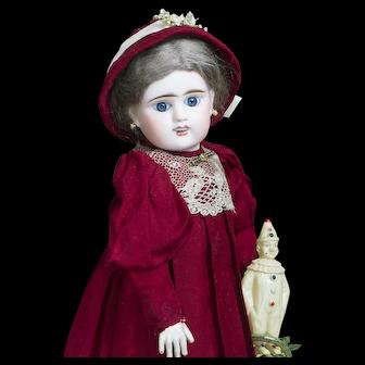 "16"" (41cm) Antique French E.D. Blue Eyed Bebe Doll by Etienne Denamur size 6 Depose"