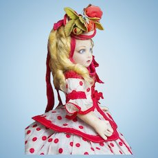 "15"" (38cm) Antique Italian Felt Character Doll by Lenci in  original costume and original Lenci Box"