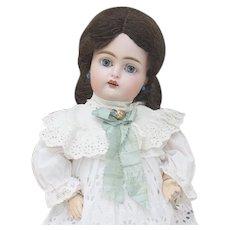 "14 1/2"" (37cm) Antique German Bisque Child Doll, 192, by Kammer and Reinhardt in Original Dress, excellent condition"