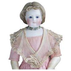 "Wonderful Antique Original Exemplary Net Lace & Silk Soutache Shawl for Huret, Rohmer, Blampoix Enfantine Poupee fashion doll 15-16"" tall"