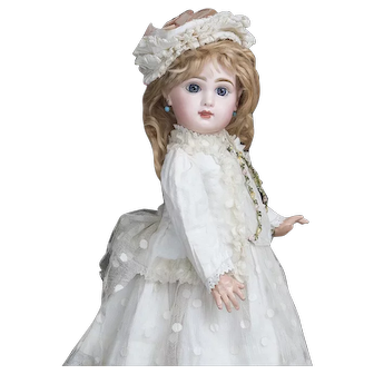 20in (51cm) Very Beautiful Antique French Bisque bebe Doll by Emile Jumeau size 9, with Original Costume, in Excellent condition, c.1888