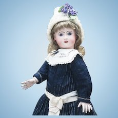 "24 1/2"" (62cm) Antique French Bisque Phenix Bebe doll by Henri Alexandre Jules Steiner in original costume"