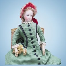 "14"" (36 cm.) Antique French Fashion Elegant Poupee Doll by Jumeau in original costume"