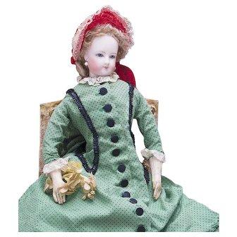 "14"" (36 cm.) Antique French Fashion Elegant Poupee Doll by Jumeau in original costume"