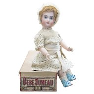 "24"" (61cm) Antique 24 inch French Bisque Tete Jumeau Doll Marked X Size 11 in Original Jumeau Box"