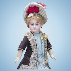 "18"" (46 cm.)  Antique French Early Bisque Bebe E.J. Doll by Emile Jumeau, size 8"