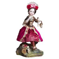 "14""(36 cm)  Antique French All original Musical Automaton by Vichy with Gaultier doll"