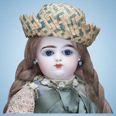 "15"" (38cm) Petite Antique French Bebe Scroll mark Closed Mouth Doll by Gaultier Freres F.G., c.1890"