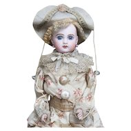 "24"" (61cm) Antique French All Original Bisque Doll by Jumeau as Polichinelle"