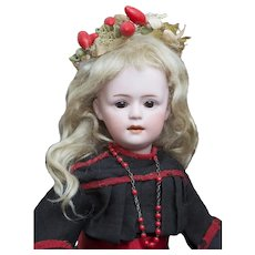 """13"""" (33 cm.) Antique All original German Bisque Glass-Eyed Character Doll 7711, by Gebruder Heubach"""