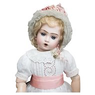 "16""(40cm) Wonderful Antique French Bisque Bebe Bru Jne Doll Teteur by Leon Casimir Bru in original costume"