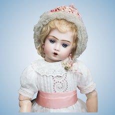 "16""(40cm) Wonderful Antique French Bisque Bebe Bru Jne Doll Teteur by Leon Casimir Bru in original costume"