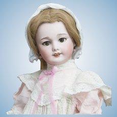 "22"" (56cm) Antique All Original French Bisque Paris Bebe Doll, 301, with Factory Dress"