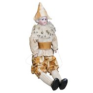 "14 1/2"" (37cm) Rare Antique All Original Bisque Polichinelle Doll  by Simon&Halbig, for French market"