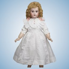 Antique Original French Batiste Dress for Jumeau Bru Steiner Gaultier Eden Bebe Doll about 25-26in tall (63-66cm)