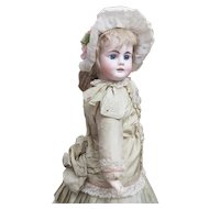 "19"" (49 cm) Antique German Bisque Doll, Model 224, by Bahr and Proschild,c. 1885."