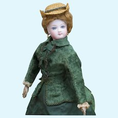 "13"" (34cm) Antique French Fashion Jumeau doll, c.1880"