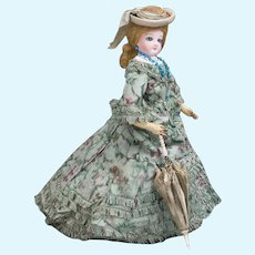 "13"" (33cm) Very Beautiful Antique French Fashion Bisque poupee Doll by Jumeau in original costume"