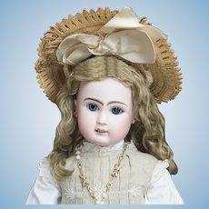 "23"" (58 cm) Antique French Bisque bebe Doll Le Parisien bt Steiner Successors in Original Factory costume"