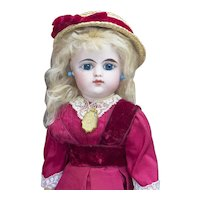 "15"" (38cm) Antique French Eden bebe doll  by Gaultier with closed mouth, c.1888"