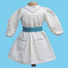 """Antique Original Cotton Dress for Jumeau Bru Steiner Eden Bebe Gautier doll about 19-20"""" tall"""
