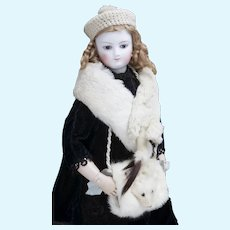 Wonderful Antique Original Muff, Hat and Stole Set for your Fashion, French Or German Doll  in the box