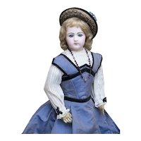 """18 1/2"""" (47 cm) Antique French Fashion Jumeau Poupee doll oin Original gown, c.1878"""