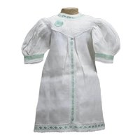 "Antique French Factory Presentation Muslin Chemise for Jumeau Bru bebe Doll 21-22"" (53-37cm)"