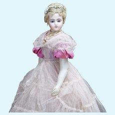 "21"" Antique French Portrait Fashion Doll by Pierre  Francois Jumeau"