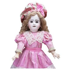 """25"""" Antique French Bisque Bebe Doll by Rabery & Delphieu in Original Dress, c. 1884"""