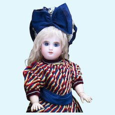 """20"""" Antique French Bisque Bebe Mascotte by May Freres,  c.1890"""
