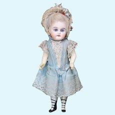 """8"""" (20cm) Antique German Mignonette doll marked E.F. in Original Costume"""