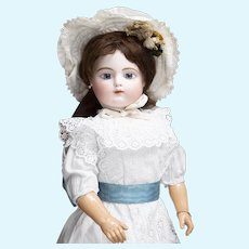 """29"""" (74cm) Antique Large French Bisque Block Letter Bebe Doll by Gaultier  with Original Gesland Body"""