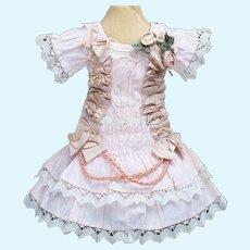 Antique French Original  Dress for Jumeau Bru Steiner  Gaultier Eden Bebe or Early German doll  16-17in