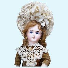 "17"" (43cm) Antique French Bisque Thuillier Bebe Doll Cabinet Size, Verdier & Gutmacher period"