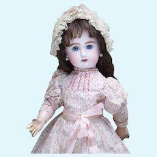 """14"""" (36cm) Antique Original French Bisque Jullien Bebe Doll in Original Costume, c.1895"""